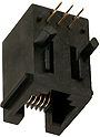 Dupont RJ45 Jack PC Mount, 6 Conductor