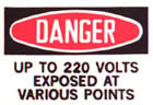 Pressure Sensitive DANGER Labels