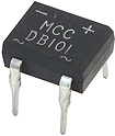 MCC Bridge Rectifier 1.0A 50V